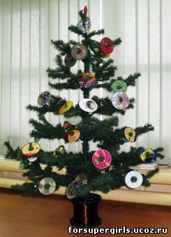 Как необычно украсить елку своими руками